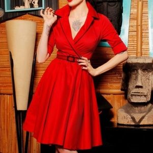 Deadly Dames Dresses - Deadly Dames Haunted Housewife Dress in Red NWT XL
